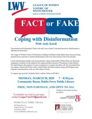 DF Library Event: LWV Workshop: Fact or Fake - Coping with Disinformation