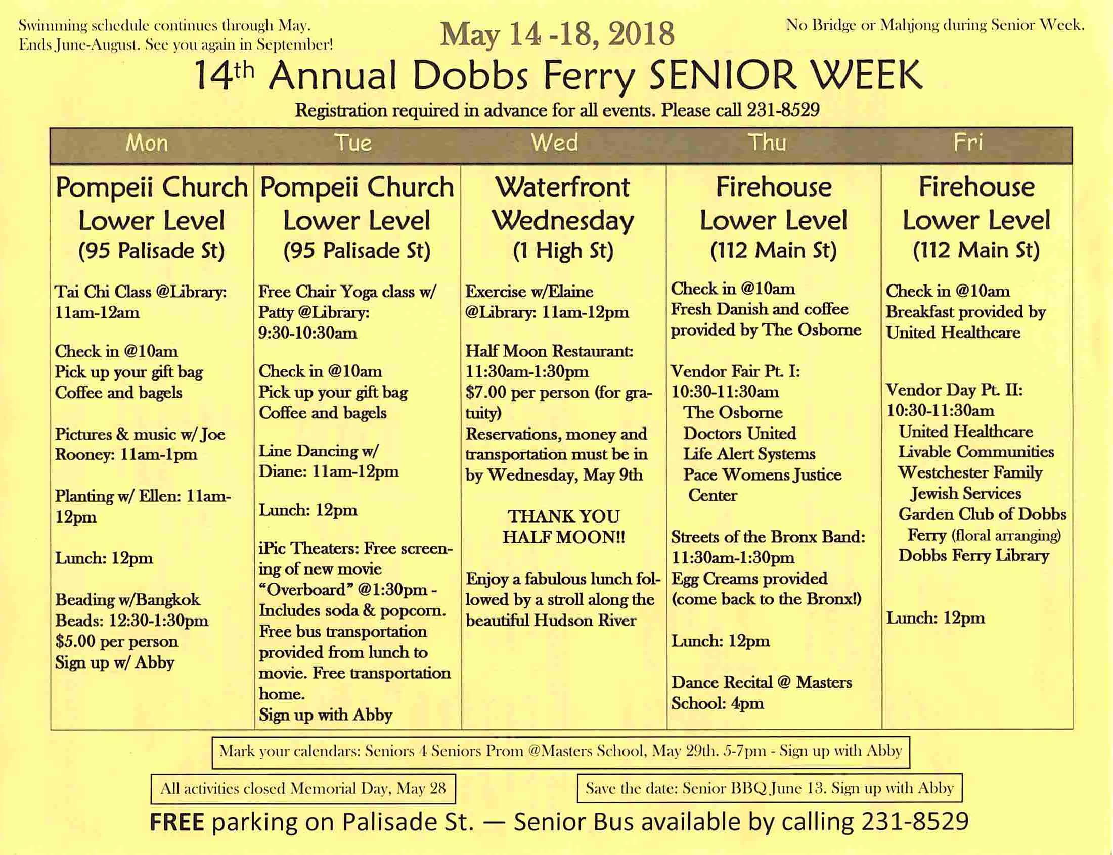 Senior Week 2018 - Page 1